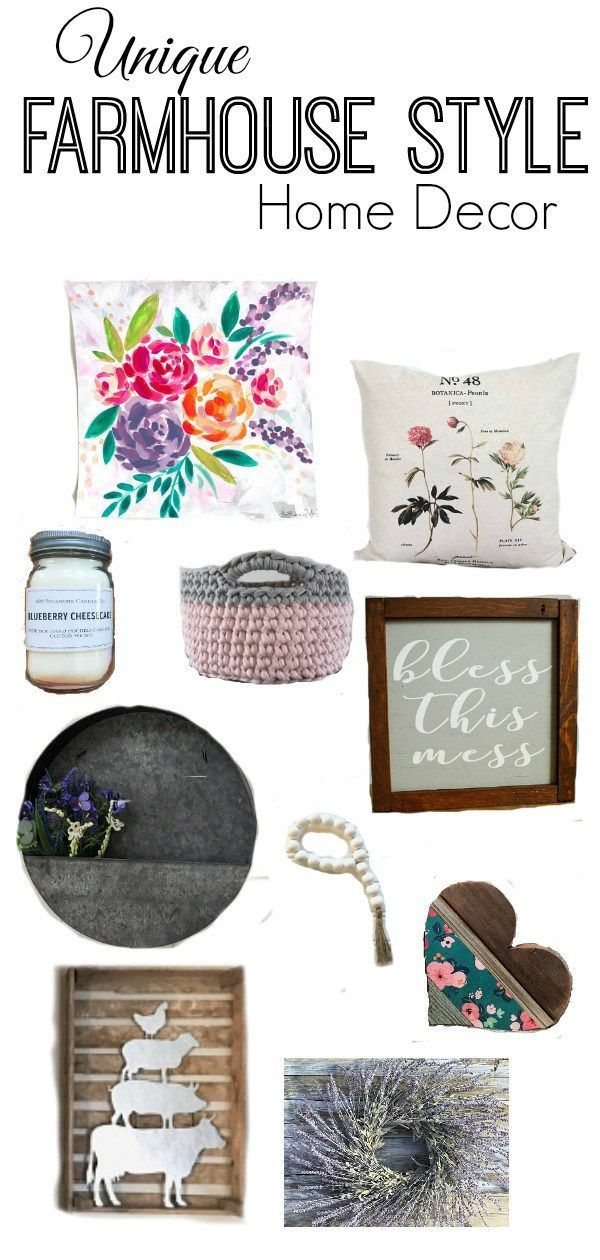 Unique, feminine and rustic farmhouse style decor that works for a kitchen, bathroom, office or master bedroom decor #farmhousestyle #farmhousedecor #giftguide #decoratingideas