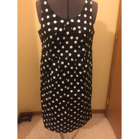 "Black and White Polka Dot Maternity Dress New with tags. Maternity size medium. Super cute for spring time! Nice stretchy fabric. Dress is 36"" long and fits below the knees. **No Trades** Motherhood Maternity Dresses"