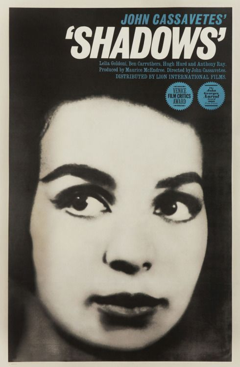 1961 US one sheet for SHADOWS (John Cassavetes USA... Movie Poster of the Day