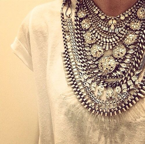 dress up a tee with a little bling