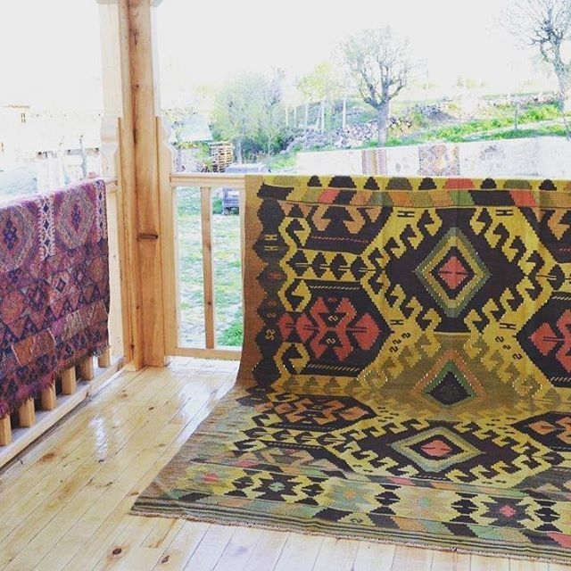 Such a beauty-the yellow one; Balikesir Kilim! This design is called YUNCU. It's almost 90 years old! So charming Contact for shopping! Dm for Info&Price! ☝️Wholesale Orders Are Taken! Free Shipping!  #kilim #rug #carpet #turkishkilim #vintage #oriental #design #decor #cushion #cushioncover #pillow #pillowcase #wool #handmade #vintage #turkish  #interior #home  #ebay  #patchwork #bohostyle #bohohome #boho #hippiefashion  #hippie #gypsyfashion #gypsy #bohochic #art #etsy
