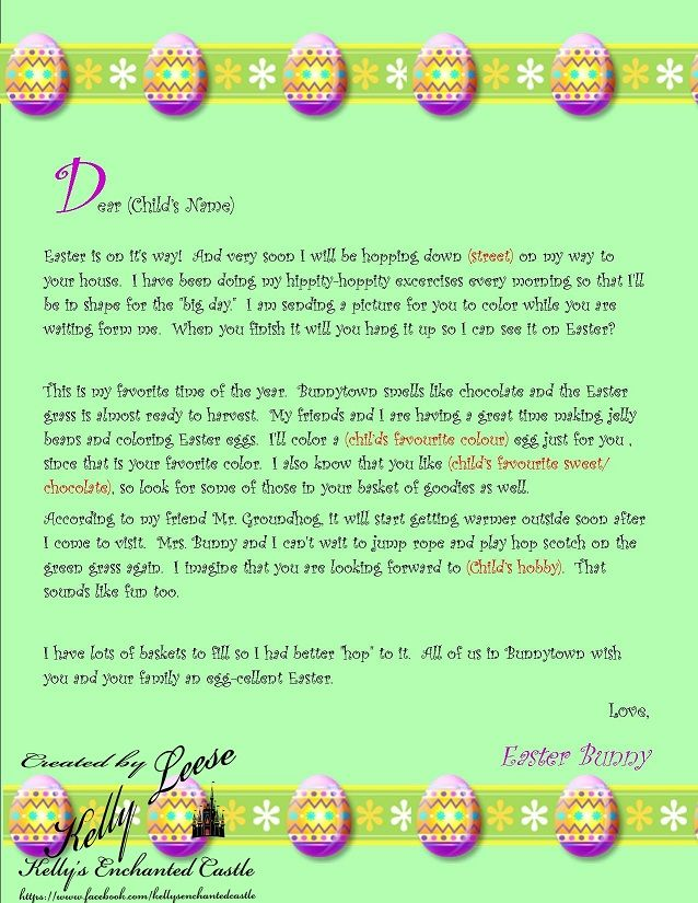 Best Letters From Santa Easter Bunny Etc Images On
