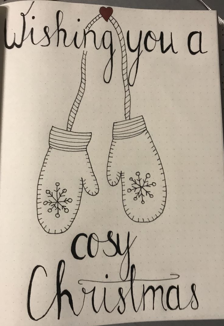 Cosy Christmas Bullet Journal Winter December / kerstmis winter