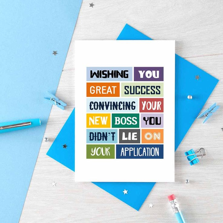 Funny New Job Card Coworker Leave Card Good Luck