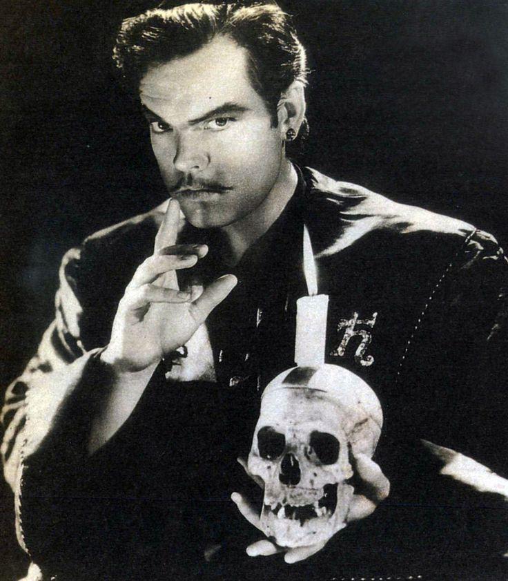 """Orson Welles in """"Cagliostro"""" (""""Black Magic""""), 1949."""