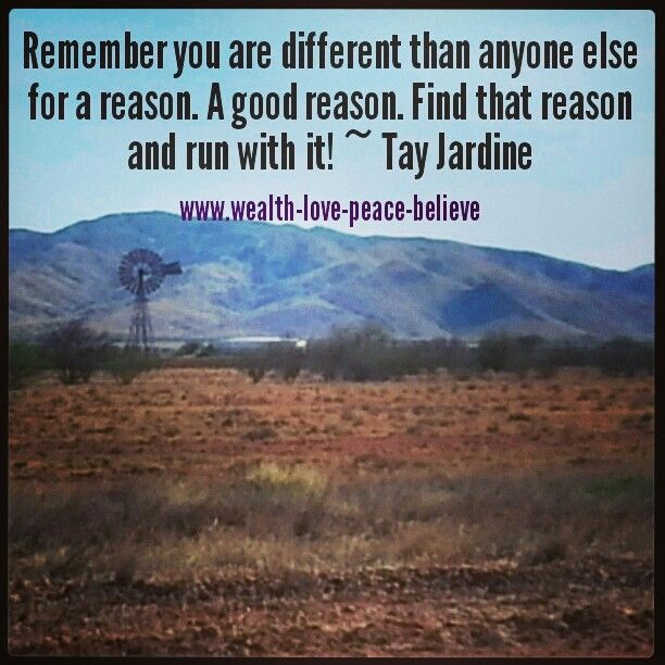 Remember you are different than anyone else for a reason. A good reason. Find that reason and run with it! #individual #perfection #limestonebore #outback
