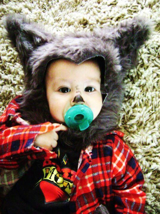 Homemade baby werewolf halloween costume