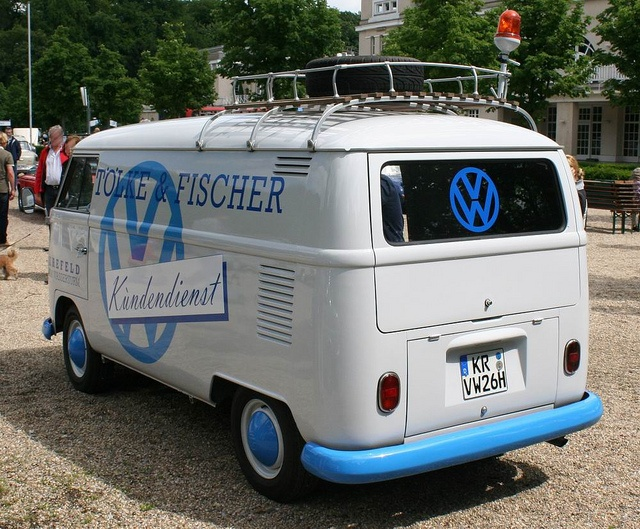 "Volkswagen Transporter T2  panel van model 214 | splitting the windshield and roofline into a ""vee"" helped the production Type 2 achieve a drag coefficient of 0.44. The Transporter first generation T2 pre 1967 [mistakenly called T1]"