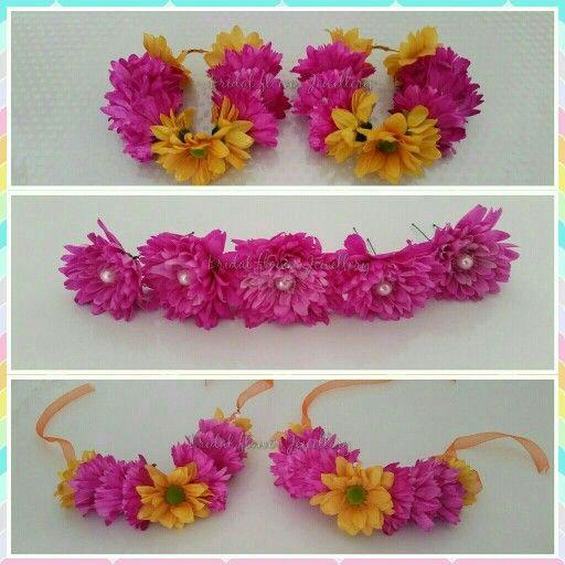 Fresh floral bangles, hoops and hair pins by bridal flower jewellery www.bridalflowerjewellery.weebly.com