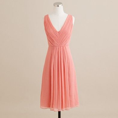 I found a series of dresses on J.Crew I love.. how does everyone feel about this color? @Rosanne Buell @Sue Buell @Ashleigh Kent @Mary Knatt: Coral Bridesmaid, Style, Silk Chiffon, Bridesmaid Dresses, Wedding Ideas, Color