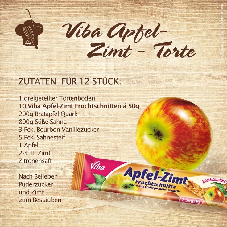 Viba Apfel-Zimt-Torte mit leckeren Viba Apfel-Zimt Fruchtschnitten.  Copyright © 2012, Viba sweets GmbH