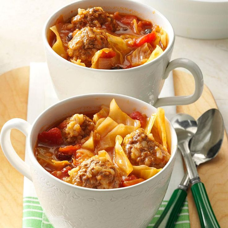 One-Pot Unstuffed Cabbage Recipe -Here is one of my favorite ways to cook and enjoy cabbage. It has all the good flavor of regular cabbage rolls, but it's a lot less bother to make. In fact, it's a one-pot meal! —Mrs. Bernard Snow, Lewiston, Michigan