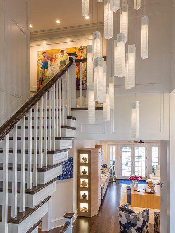Entryway Chandelier Lighting For Entrance Foyer Or Staircase Etsy High Ceiling Lighting Modern Foyer Foyer Lighting Fixtures