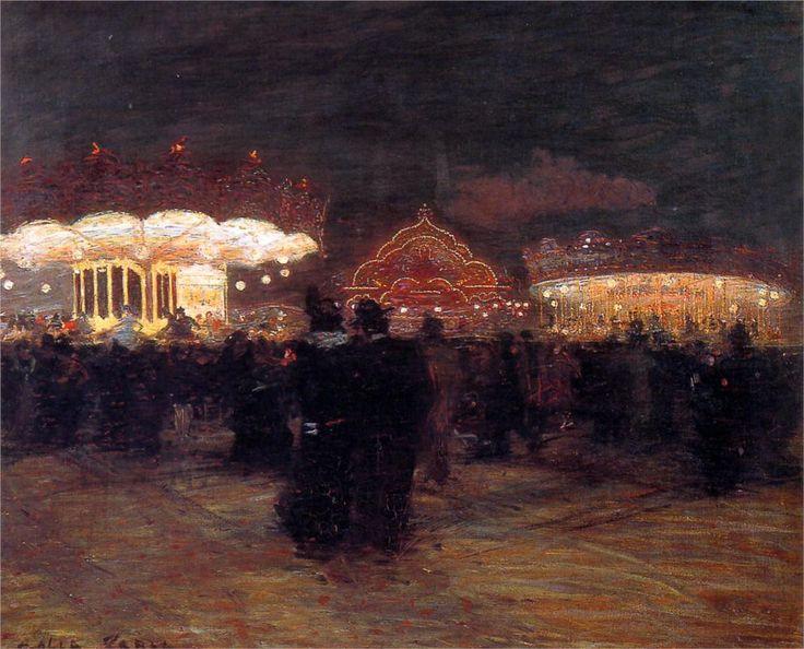 Giacomo Balla, Luna Park, Paris, 1900 | art | Pinterest ...