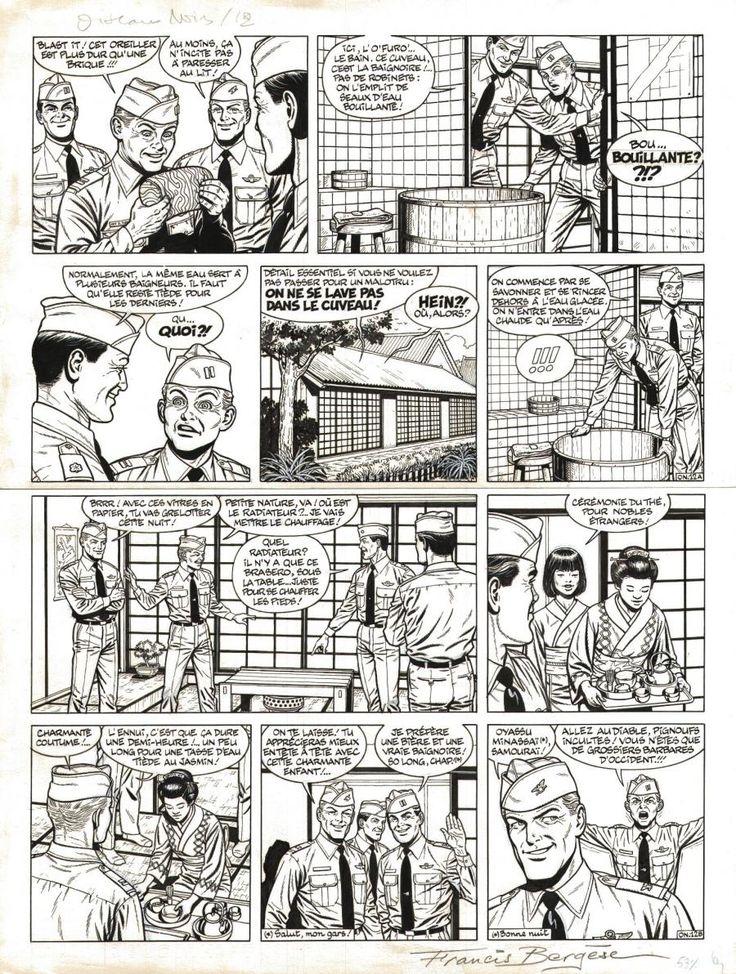 Planche originale de bande dessinée, galerie Napoléon  : BUCK DANNY - Planche originale de BUCK DANNY tome 53 Oiseaux noirs (non paru) planche originale 12. - 12