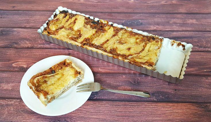 Met een quiche van ui en Franse kaas zit je altijd goed, jum!
