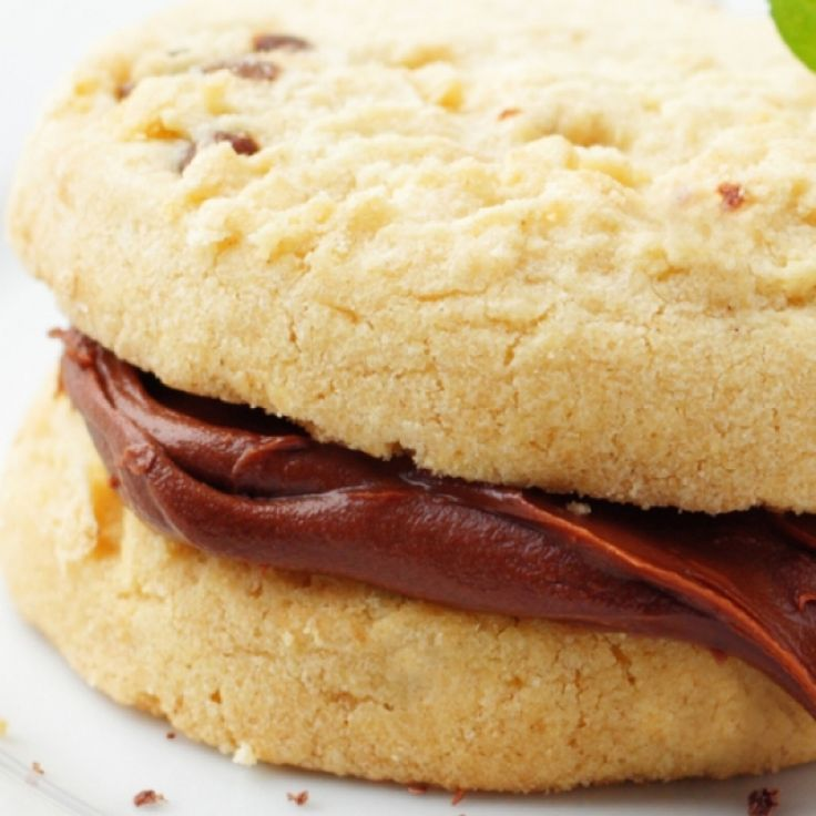 shortbread cookies with nutella bananas and almonds recipes cookies ...