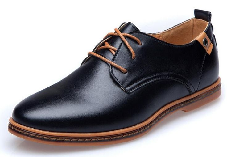 Men Shoes Leather Casual Lace up Brown Black Cheap Men Dress Shoes Oxford Men leather shoes