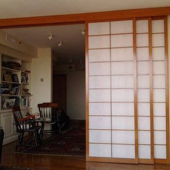 Sliding room divider shoji screens (shown open). - Yelp