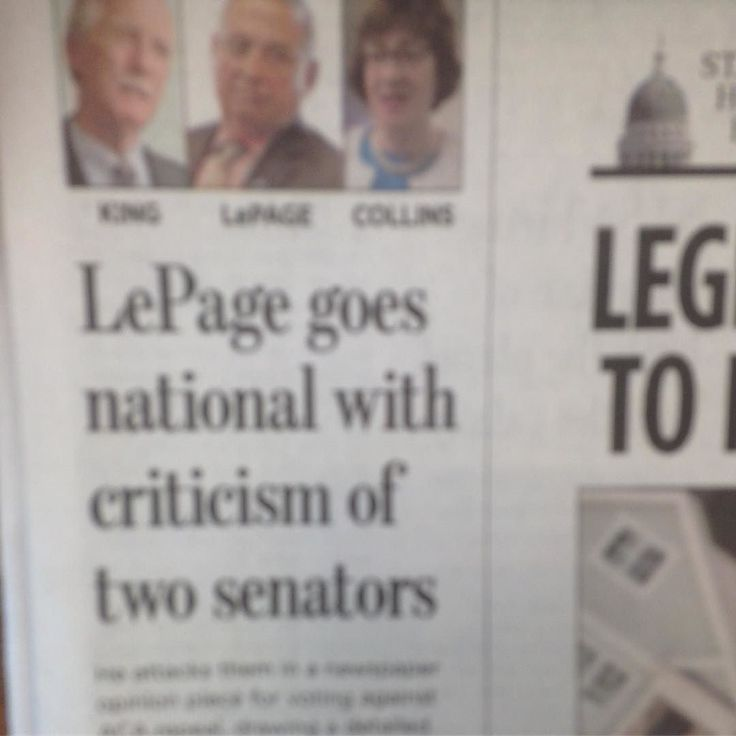 This is sooo wrong! Senator Collins did what the constitutes wanted! You do not attack a senator who is doing their job!! Lepage is a fascist! #ACA #SENATORCOLLINS #SENATE #MAINE @sensusancollins @paullepage @official_paul_lepage