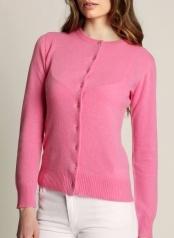 Women's Cardigan Pink  100 % Cashmere  www.softgoat.com