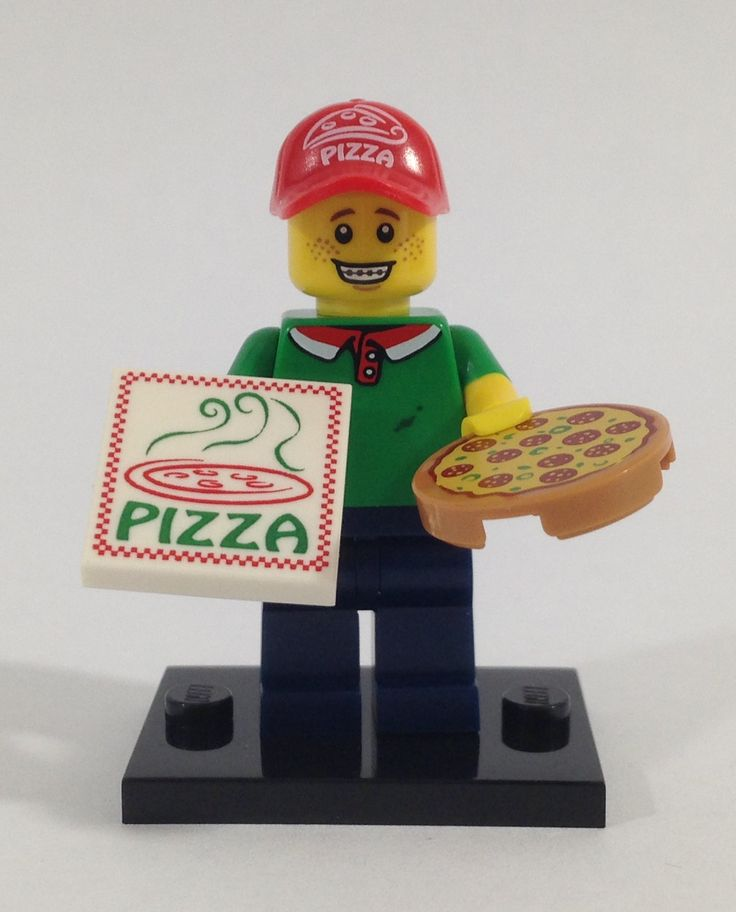 Lego Minifigure Pizza Delivery Guy