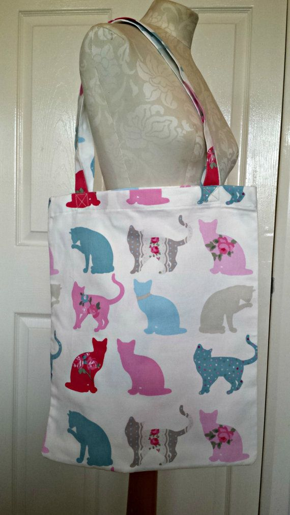 £6.99 Handmade Shopping Bag Cats Tote Bag Book by KelwayCraftsYorkshir  Felix Clarke & Clarke