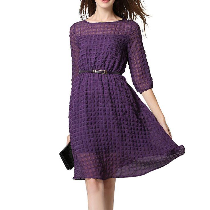 Women's Casual Purple Dress