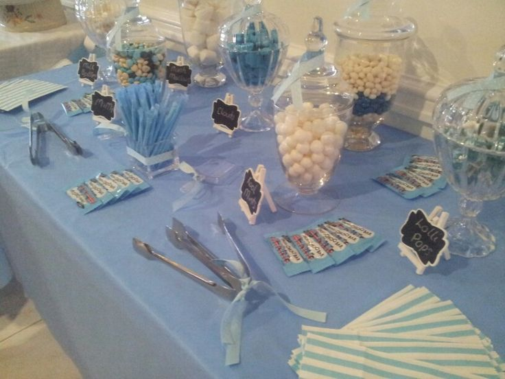 Small Baby Shower set up. By Designer Dayz - Lolly Buffets