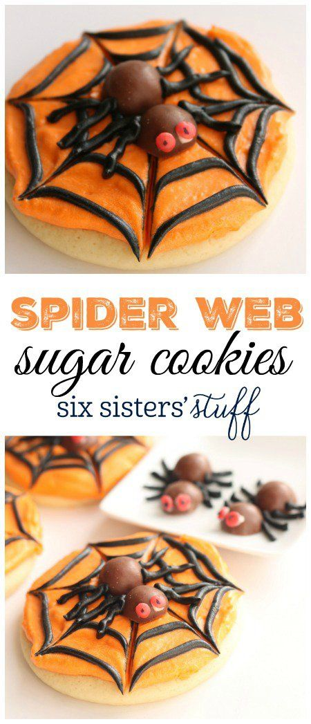 Spider Web Sugar Cookies from SixSistersStuff.com