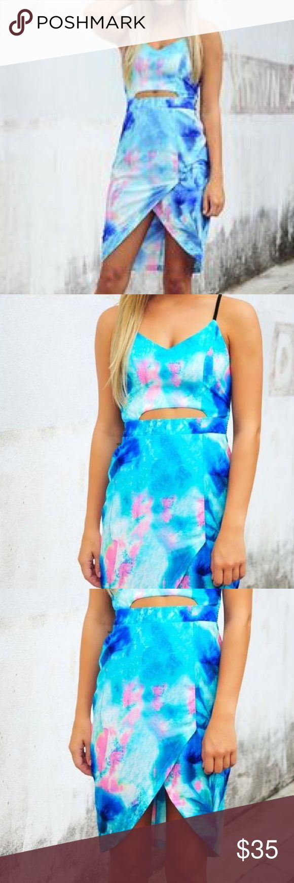 NWT Shop Hope's Malibu Nights Tie Dye Dress I love it so much. I don't want to get rid of it. But I got pregnant after I ordered and it will probably never fit me.  Please buy it and show it the love it deserves. Hope's Dresses High Low