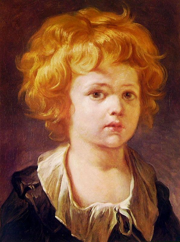"""Jean-Honorè Fragonard, """"Bambino con collaretto"""", 1789-1806, olio su tela, 30 x 31 cm, è custodito in una collezione privata."""