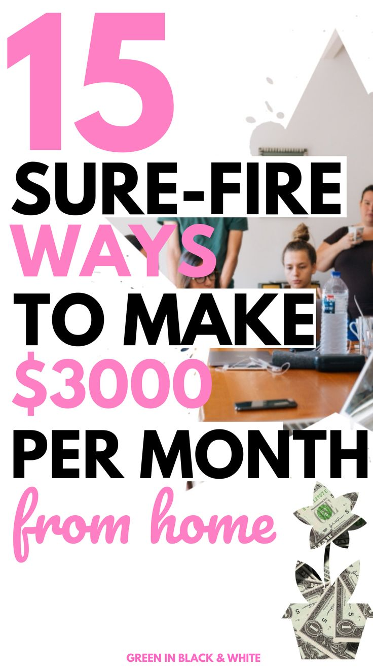 15 Sure Fire Ways to Make $3000 per month from home