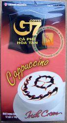 КАПУЧИНО - Trung Nguyen Coffee G7 Cappuccino Irish Cream - быстрорастворимый вьетнамский кофе капучино (сливки-крем) - 12 пакетиков в упаковке - 216 гр. Вьетнам.