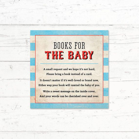 Circus Baby Shower Book Instead of a Card by CrissyDesignCo