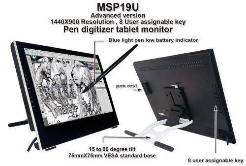 Yiynova MSP19U+ 19インチ ペンタブレット デジタイザー 液晶モニター VESAスタンド (Windows & Mac対応), http://www.amazon.co.jp/dp/B00FR1J5D0/ref=cm_sw_r_pi_awdl_MeECub06ZRRNM
