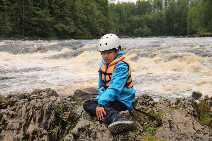 Юная любительница водного туризма⛺️ #Карелия
