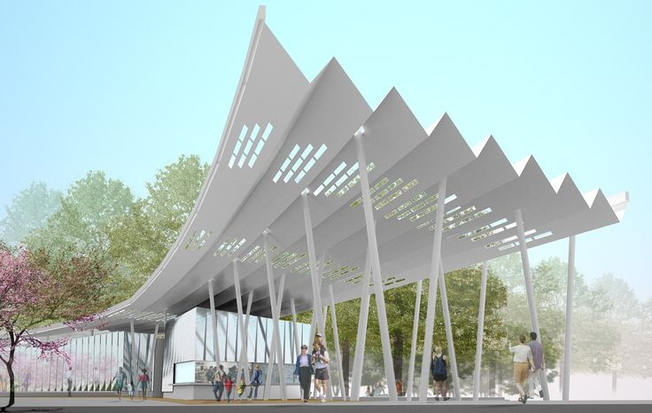 Ferry Terminal Pavilion weiss/manfried
