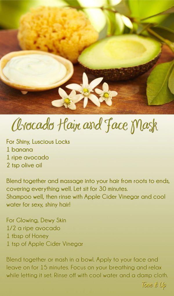 Advocado hair and face mask