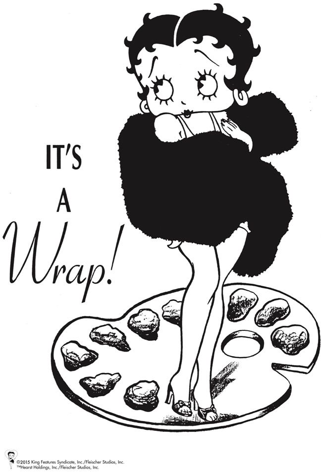 Dover Betty Boop Coloring Page 4