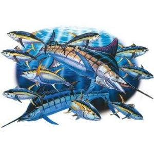 marlin tuna fishing t shirt apparel gone fishing. Black Bedroom Furniture Sets. Home Design Ideas
