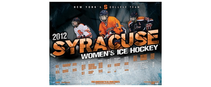 Syracuse Women's Ice Hockey Poster | Old Hat Creative