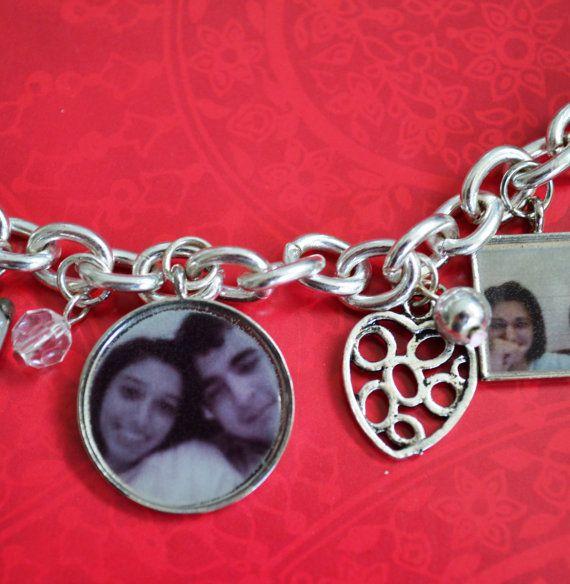 CUSTOM Memento Photo Charm Bracelet Made to by OneCharmingTreasure