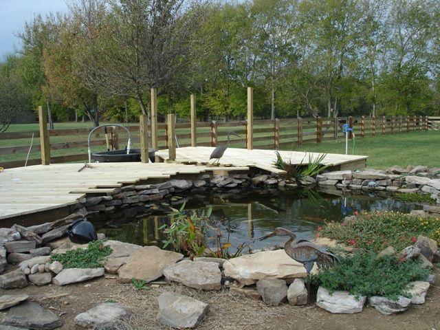 Koi pond patio koi pond deck building ponds pinterest for Koi pond deck