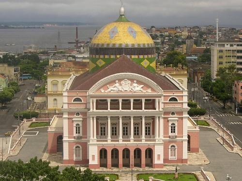 Opera house in Manaus, Amazon, Brazil