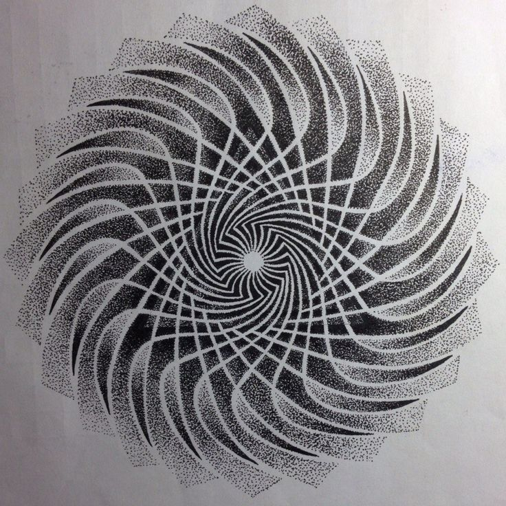 Triangle Whirlpool dotwork tattoo