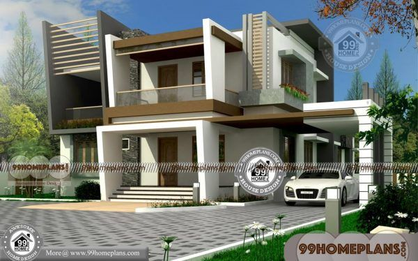 Small Double Storey Houses With 3d Elevations Very Beautiful 100 Plans Double Storey House Facade House 3d House Plans