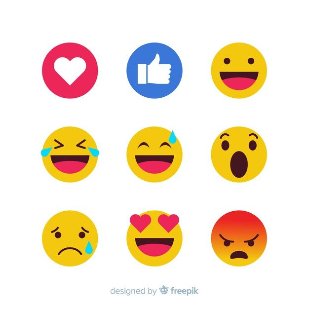 Download Emoticon Reaction Collection For Free Vector Free Emoticon Graphic Editing