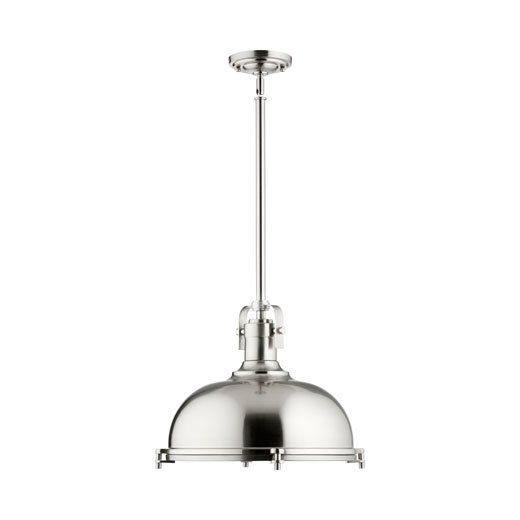 Use the Quorum 1 Light Pendant to give your kitchen interiors in unique look. This mini pendant sports a transitional style that is an innovative and useful addition to the decor. Made using premium quality materials, this mini pendant is sturdy and durable. The 1 Light Pendant by Quorum is available in multiple finishes allowing you to choose the one best suited for your decor. It requires an incandescent bulb that emits a bright light. This mini pendant can be easily wiped with a dry cloth…