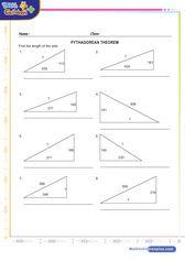 Triangle sides pythagorean theorem 1